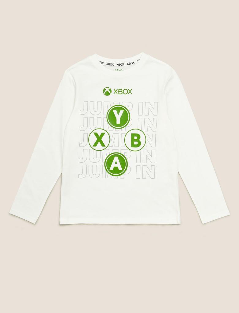 Erkek Çocuk Multi Renk Saf Pamuklu Xbox Bluz