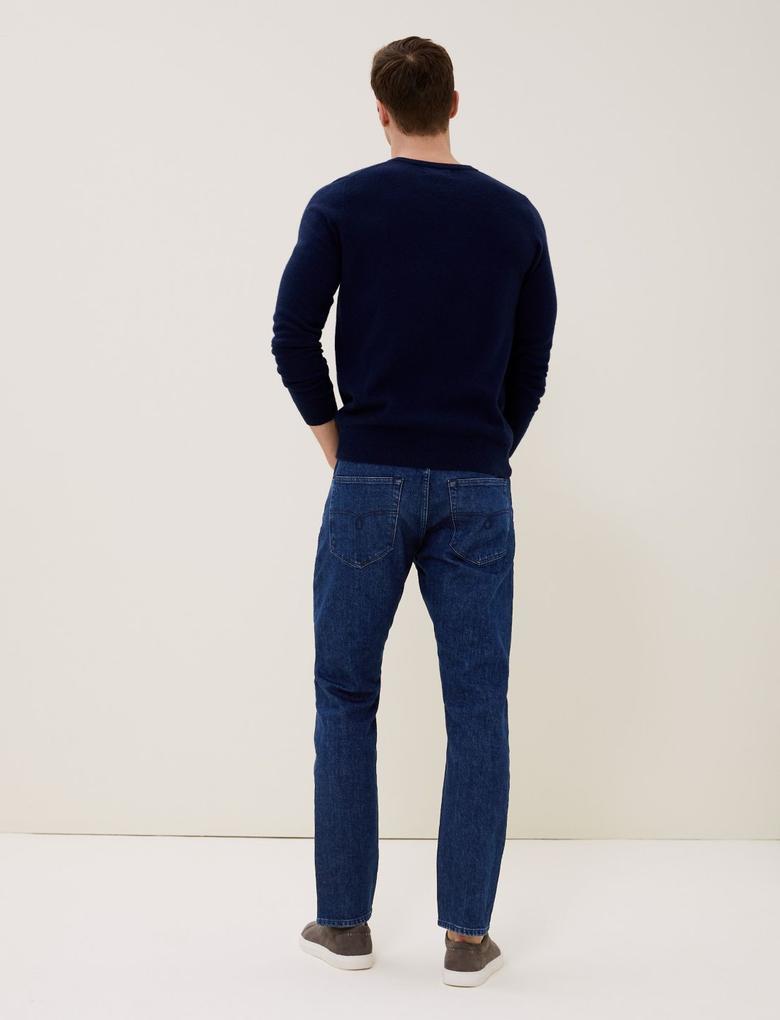 Mavi Slim Fit İtalyan Jean Pantolon