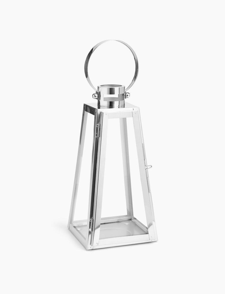 Ev Gümüş Metal Orta Boy Fener