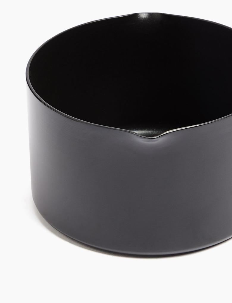 Ev Siyah 16 cm Alüminyum Yapışmaz Tencere