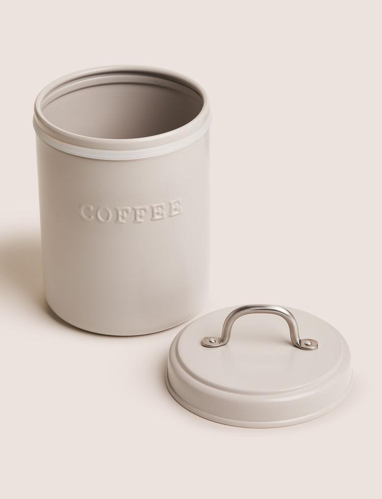 Ev Gri Çelik Kahve Saklama Kabı