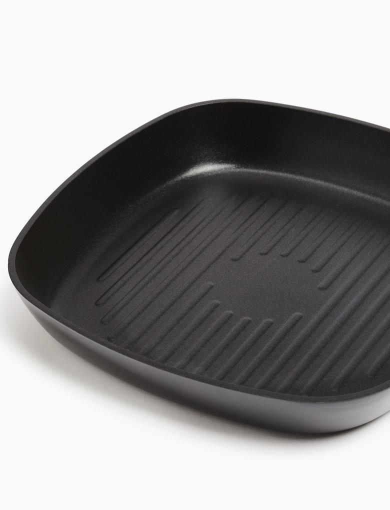 Ev Siyah 24 cm Alüminyum Yapışmaz Izgara Tavası