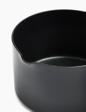 Ev Siyah 14 cm Alüminyum Yapışmaz Tencere