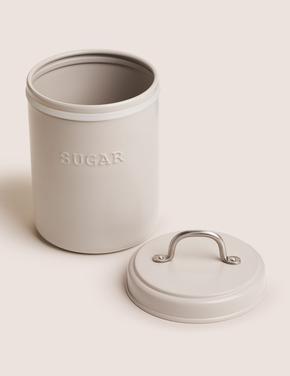 Ev Gri Çelik Şeker Saklama Kabı