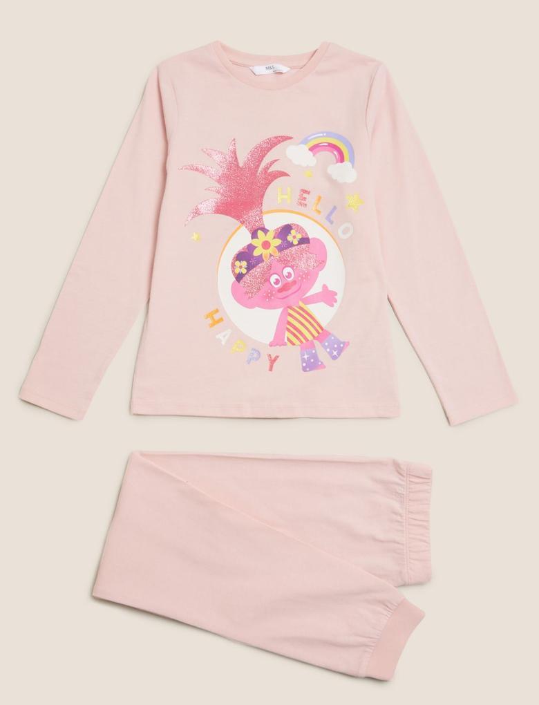 Çocuk Multi Renk Trolls Pijama Takımı