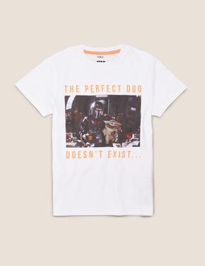 Erkek Çocuk Mavi Saf Pamuklu Star Wars™ T-Shirt