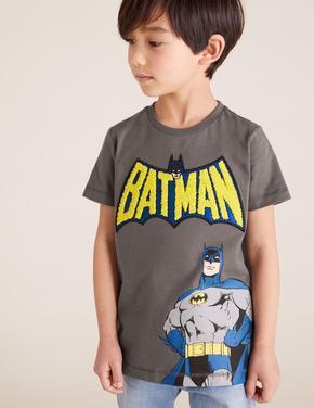 Erkek Çocuk Gri Saf Pamuklu  Batman™ T-Shirt