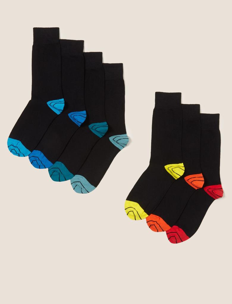 Erkek Siyah 7'li Cool & Fresh™ Çorap Seti