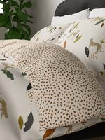 Ev Renksiz Çita Desenli Pamuklu Nevresim Takımı