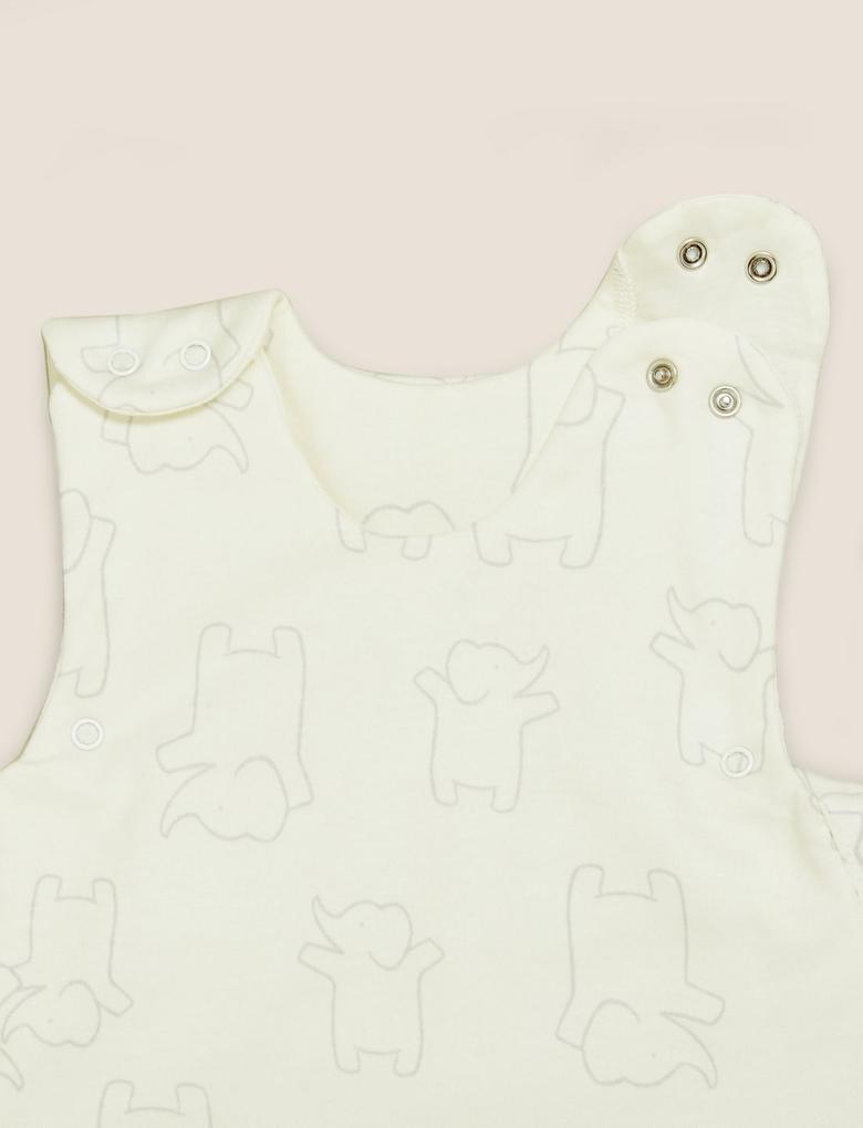 Bebek Gri Organik Pamuklu 1.5 Tog Uyku Tulumu