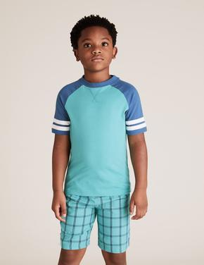 Çocuk Gri 2'li Dinozor Desenli Pijama Takımı Seti