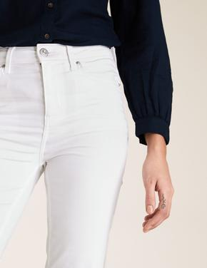 Kadın Beyaz Sienna Straight Leg Jean Pantolon
