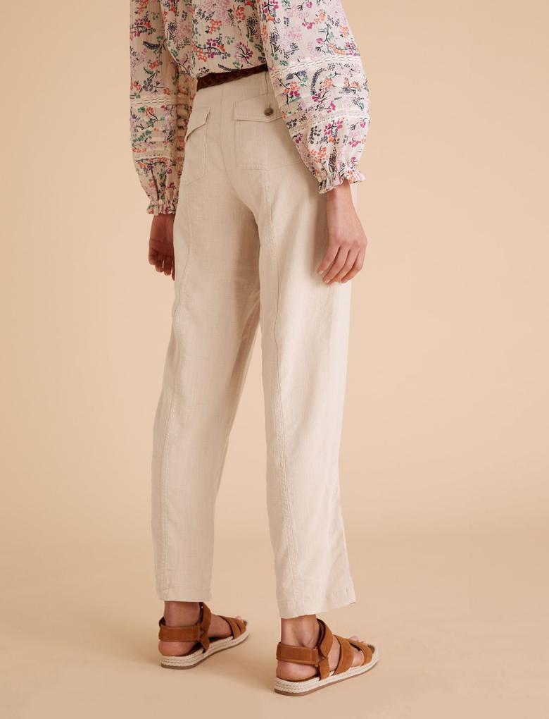 Pembe Tencel™ Kargo Ankle Grazer Pantolon