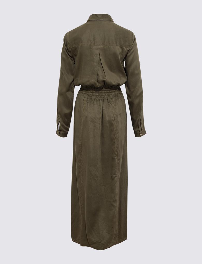 Kadın Yeşil Utility Maxi Elbise