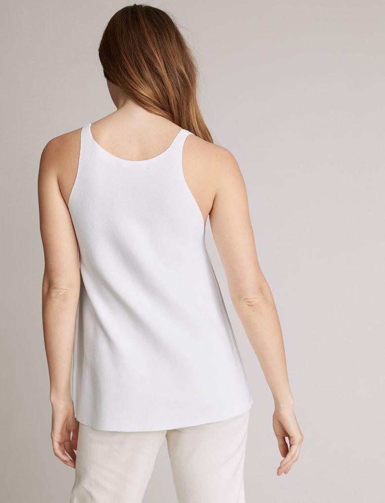 Beyaz Triko Regular Fit Atlet