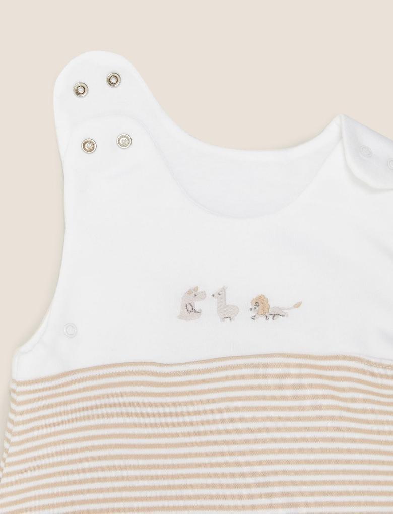 Bebek Bej 1.5 Tog Çizgili Uyku Tulumu (0-36 Ay)