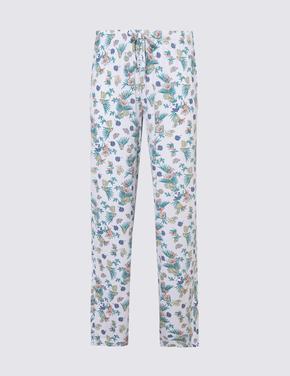 Kadın Turuncu Desenli Pijama Altı