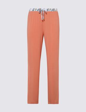 Kadın Pembe Beli Desenli Pijama Altı