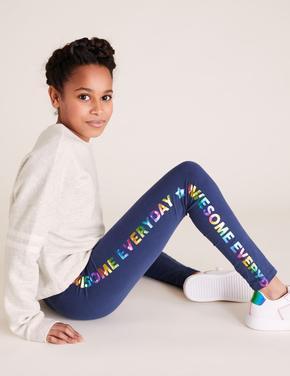 Kız Çocuk Lacivert Organik Pamuklu Tayt
