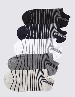 Erkek Gri 5'li Cool & Fresh™ Spor Çorabı Seti
