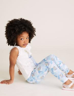 Kız Çocuk Mavi Pamuklu Disney Frozen™ Eşofman Altı