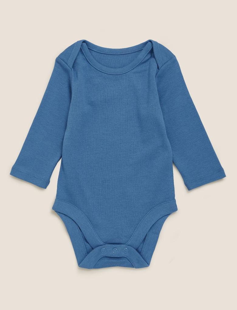 Bebek Mavi 2'li Body ve Salopet Seti