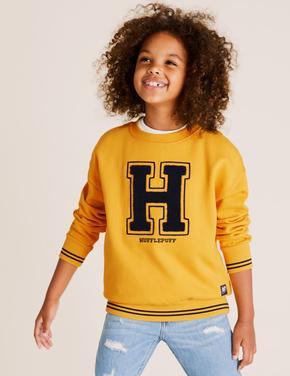 Erkek Çocuk Sarı Harry Potter™ Yuvarlak Yaka Sweatshirt