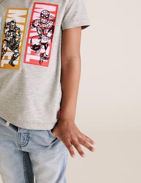 Erkek Çocuk Gri Avengers™ Grafik T-Shirt