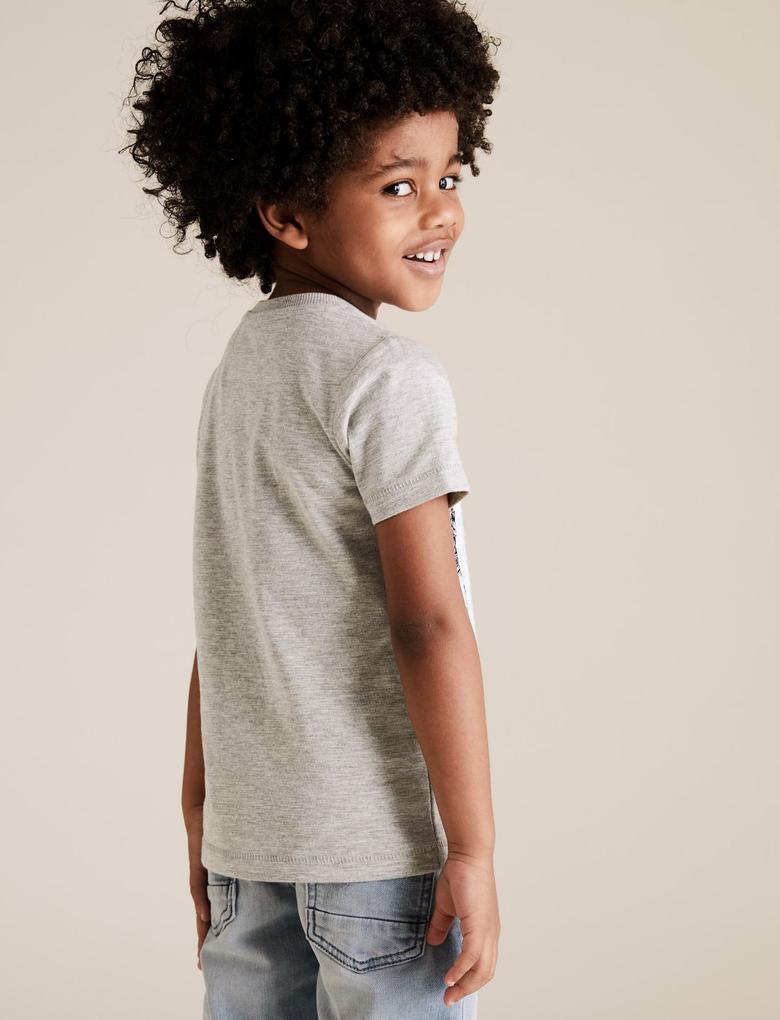 Erkek Çocuk Gri Avengers Grafik T-Shirt