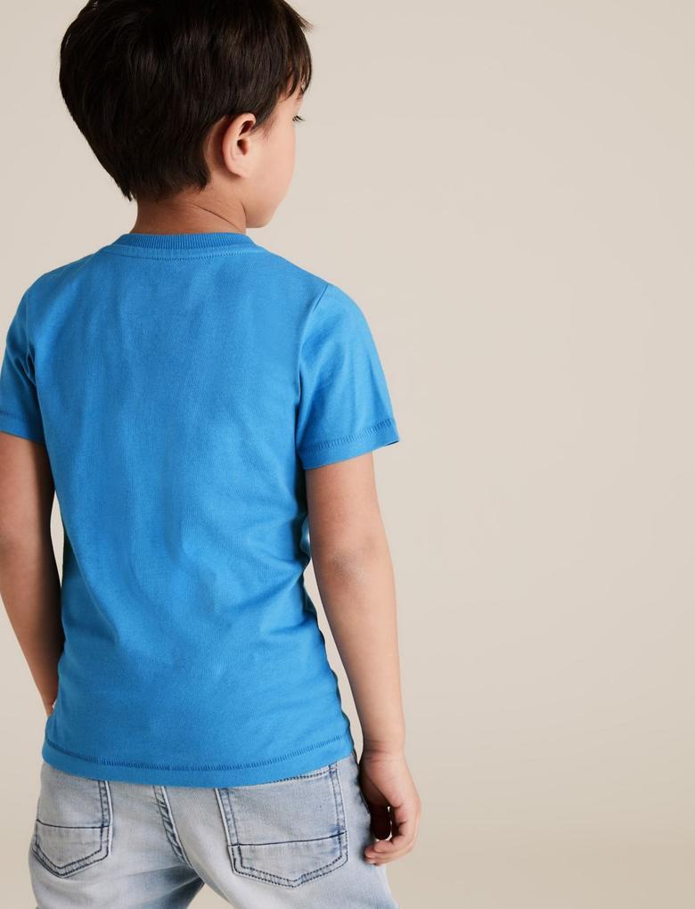 Erkek Çocuk Mavi Değişen Pullu Hulk™ T-Shirt