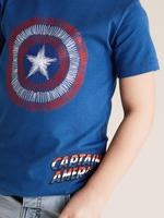 Erkek Çocuk Lacivert Saf Pamuklu Captain America™ T-Shirt