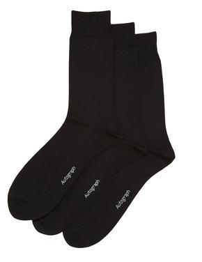 Erkek Siyah 3'lü Modal Karışımlı Çorap Seti