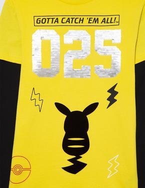 Erkek Çocuk Sarı Uzun Kollu Pikachu™ T-Shirt