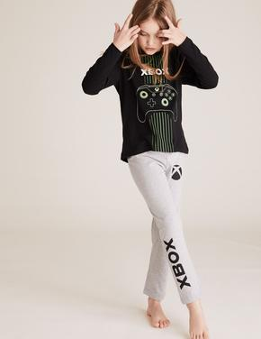 Çocuk Siyah Xbox™ Pijama Takımı
