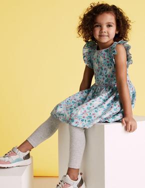 Kız Çocuk Mavi Unicorn Desenli Elbise