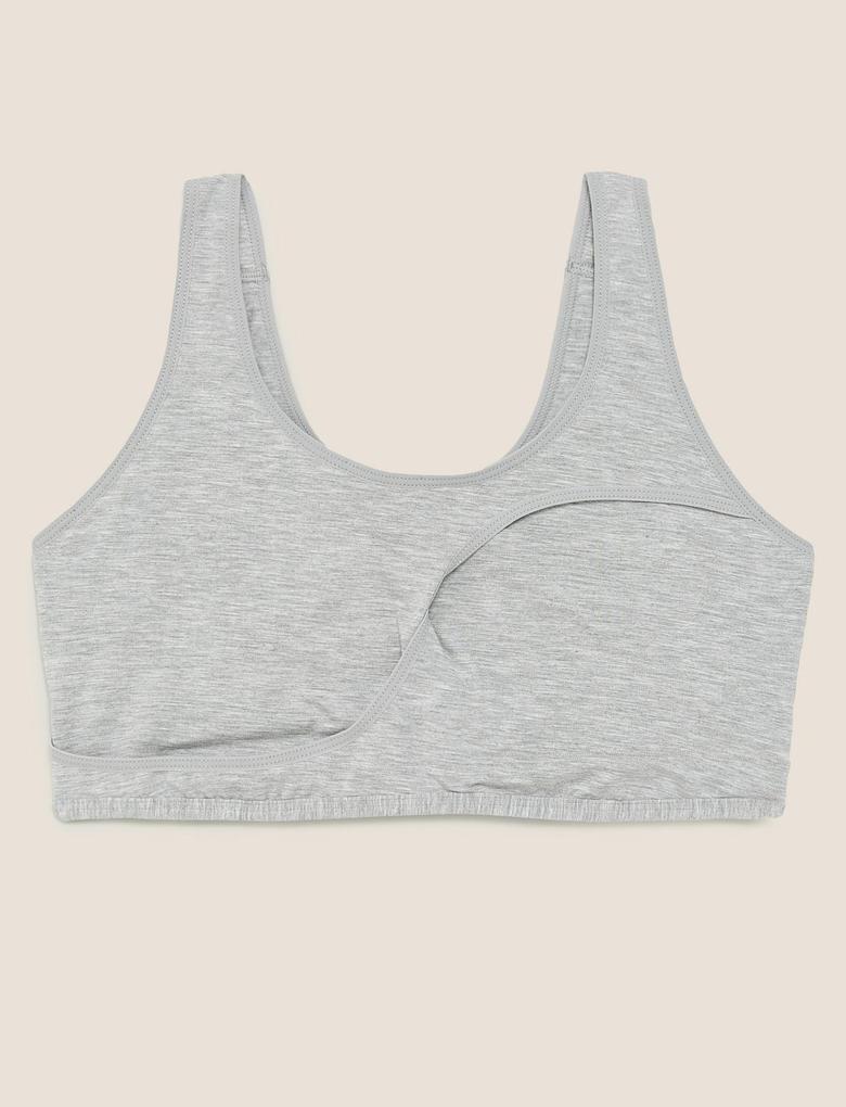 Kadın Gri Flexifit™ Balensiz Uyku Sütyeni