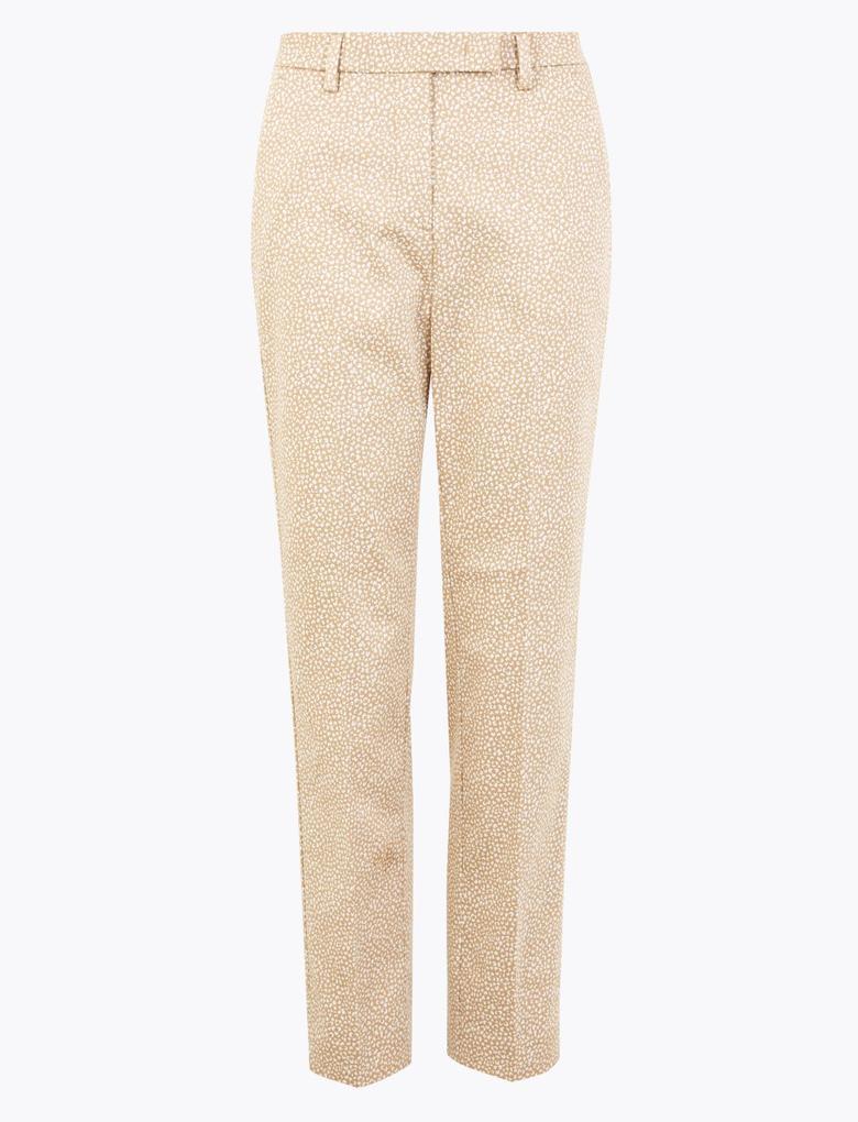 Kadın Bej Mia Slim Ankle Grazer Pantolon