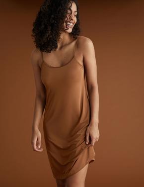 Kadın Bej Cool Comfort™ İnce Askılı Jüpon