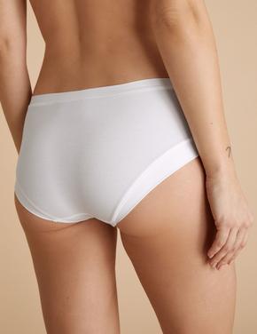 Beyaz Flexifit™ Düşük Belli Short Külot