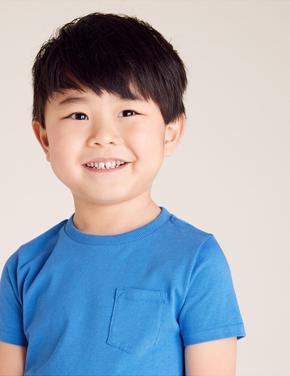 Erkek Çocuk Mavi Organic Pamuklu T-Shirt