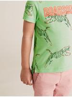 Erkek Çocuk Yeşil Tiger Baskılı T-Shirt