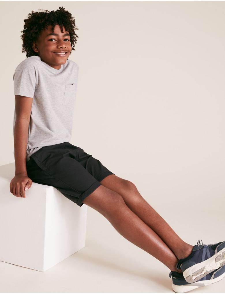 Erkek Çocuk Siyah 2'li Şort Seti