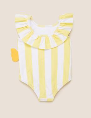 Bebek Sarı Balık Desenli Mayo