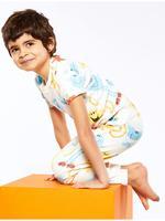 Çocuk Beyaz Mr Men™ Pijama Seti