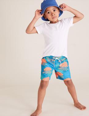 Erkek Çocuk Multi Renk Balık Desenli Mayo Şort