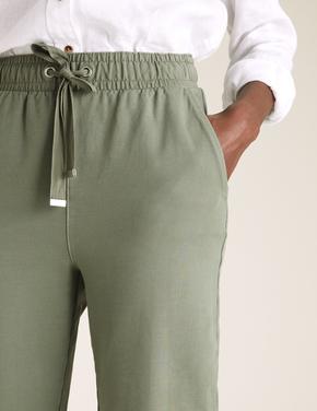 Kadın Gri Tapered Ankle Grazer Joggers Pantolon
