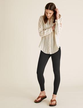 Kadın Siyah Yüksek Belli Jegging Pantolon