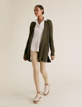 Kadın Bej Yüksek Belli Jegging Pantolon