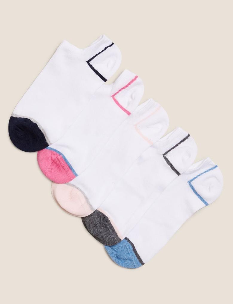 Kadın Beyaz 5'li Pamuklu Çorap Seti