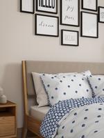 Ev Beyaz Deniz Kabuğu Desenli Yatak Takımı